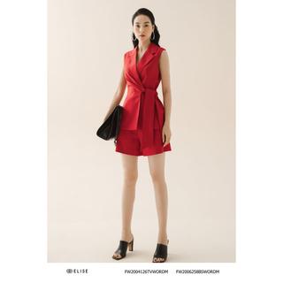 Áo ghi lê đỏ phối thiết kế Elise FW2004126TVWORD thumbnail