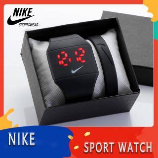 Đồng hồ điện tử NIKE LED phong cách thể thao đơn giản cho học sinh