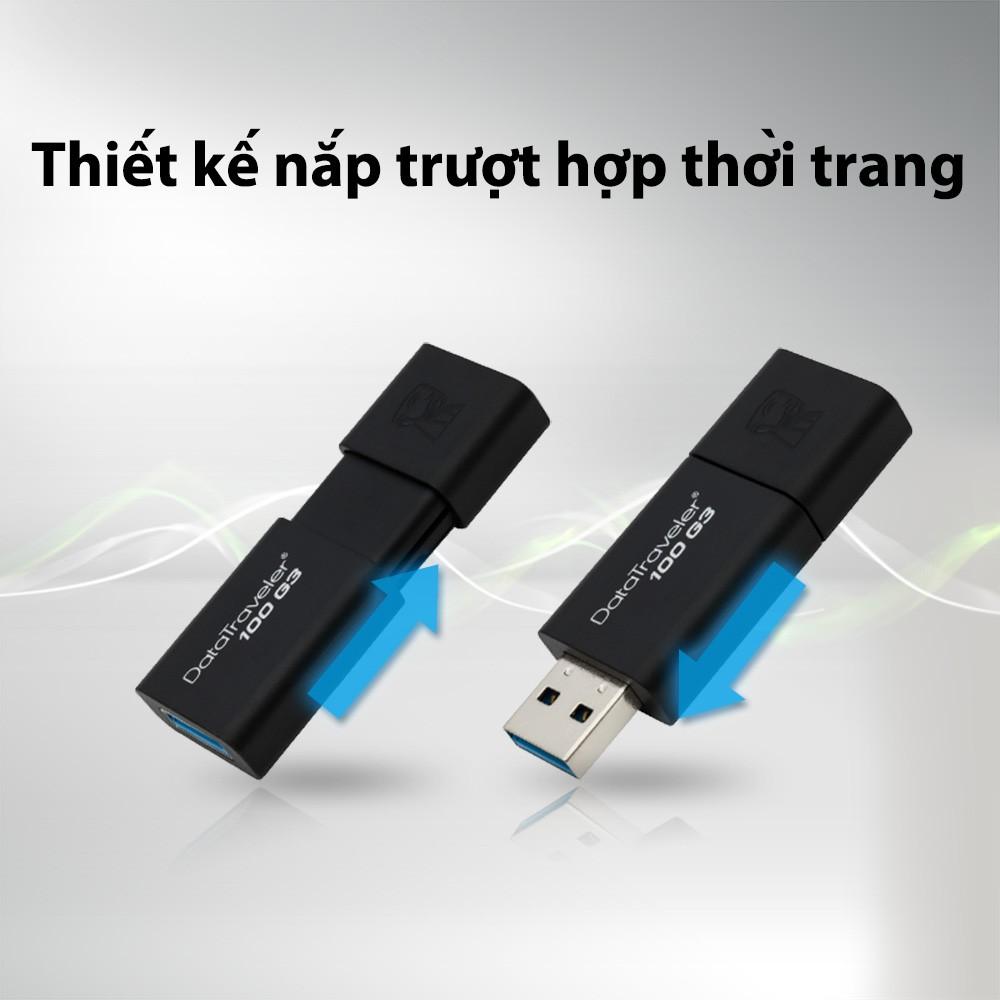 USB 3.0 Kingston DT100G3 128GB tốc độ upto 130MB/s - Hãng phân phối chính thức