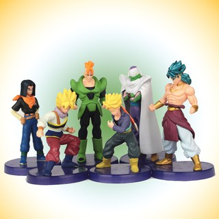 6pcs Anime Dragon Ball PVC Figures Model Doll Kids Children Toy Collection