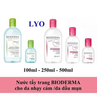 Nước Tẩy Trang Bioderma H2O Créaline Hồng - Sébium Xanh. thumbnail