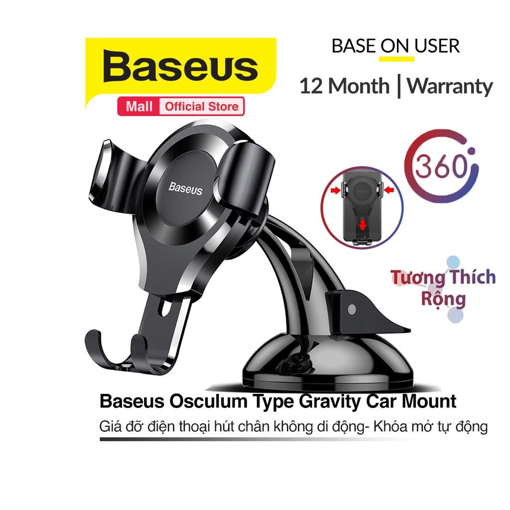 Giá đỡ Baseus Osculum Type hít chân không, tự động mở đóng, đệm bảo vệ cho điện thoại và máy tính bảng