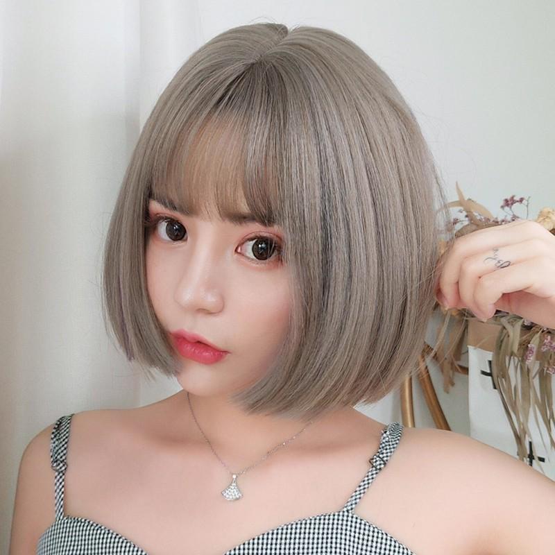 Overseas shipping wig female short hair bobo Korea Bobo head round face long hai