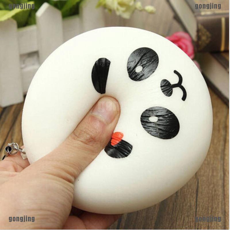 Móc điện thoạt gắn đồ chơi xốp squishy giảm stress hình gấu trúc dễ thương cho bé thumbnail