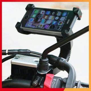 ❤️Deal Sốc❤️ Giá đỡ điện thoại kẹp 4 góc gắn kính chiếu hậu xe máy loại chất lượng 206643