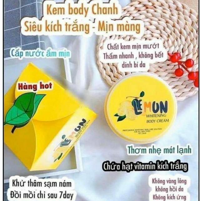 Kem Body Lemon Chanh Khử Thâm Siêu Trắng