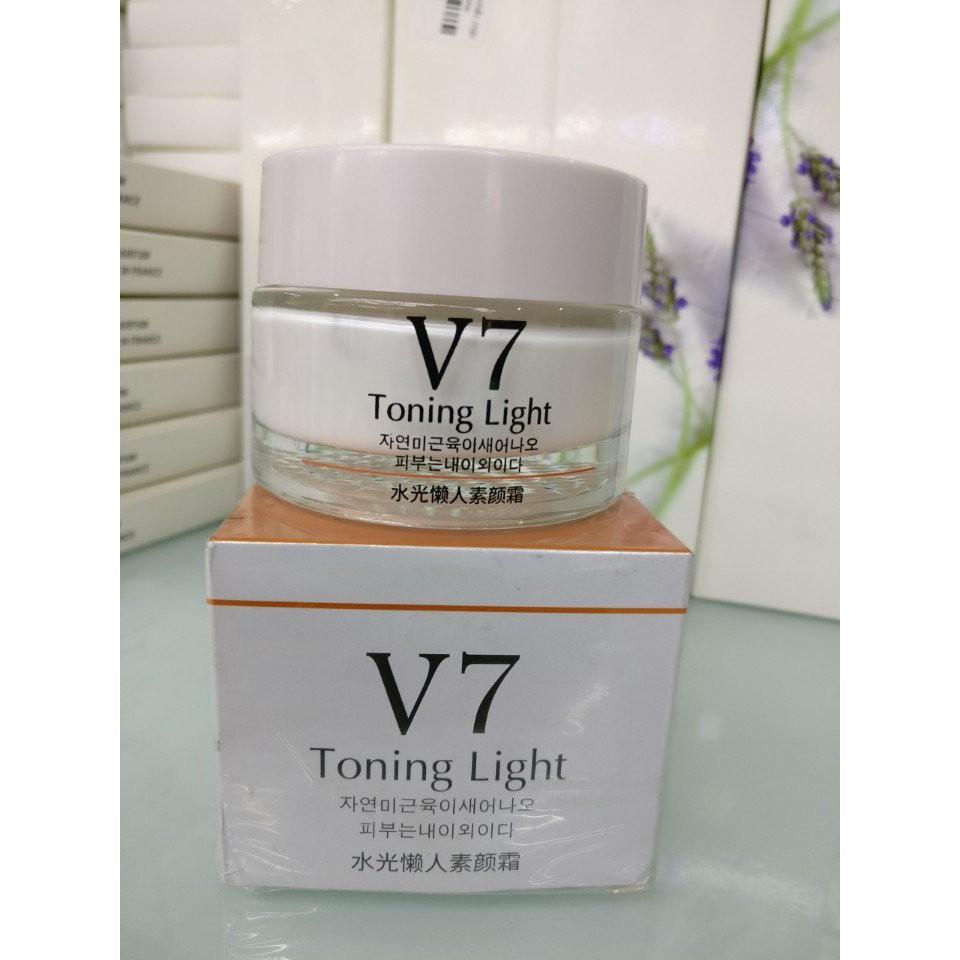 Kem dưỡng trắng và trị thâm nám V7 toning light 50g nội địa Đài Trung- DC