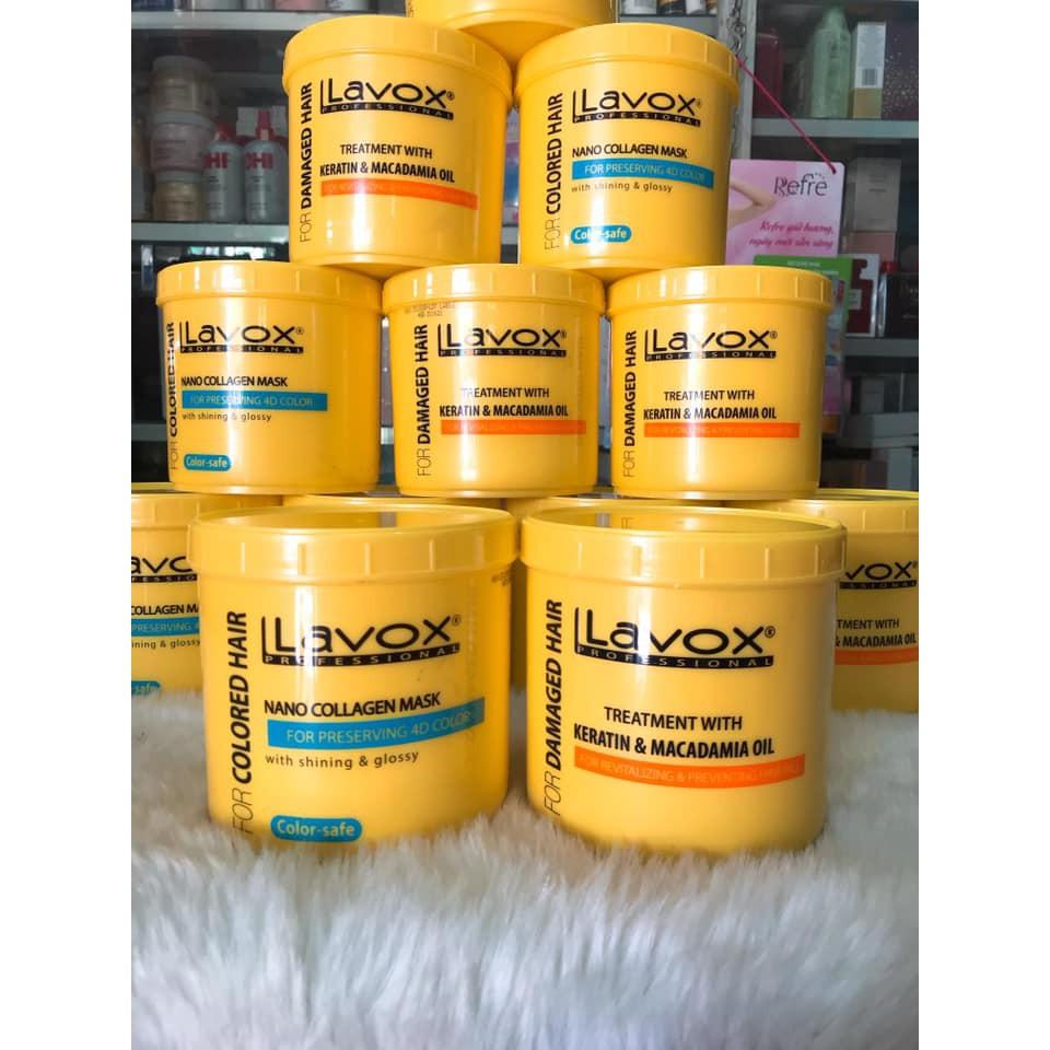(1000ml) Hấp dầu Lavox phục hồi tóc hư tổn chính hãng cty