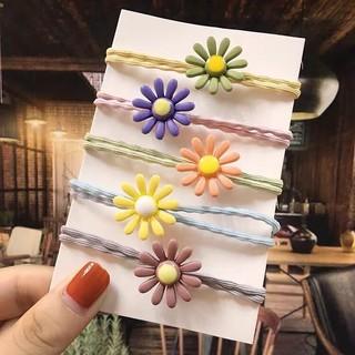 Dây buộc tóc Hàn Quốc hoa cúc nhí HOT TREND - Chun đôi cực bền - co giãn thoải mái - có 3 màu tùy chọn thumbnail