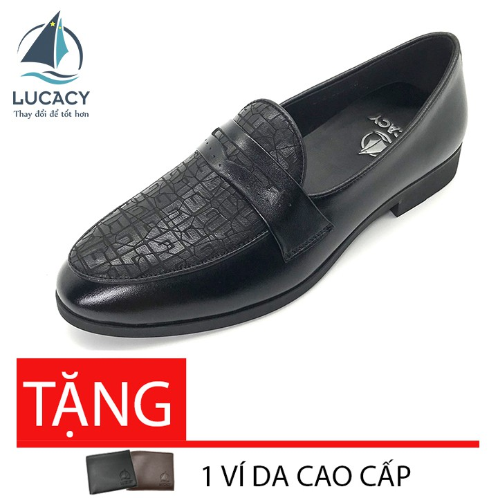 [Mã MSGMV1 hoàn 15% xu, tối đa 100K] Giày tây loafer nam Lucacy da bò cao cấp LC235BT