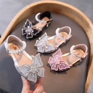 Giày búp bê bé gái – Giày búp bê công chúa đính đá kim sa hình cánh bướm cao cấp cho bé tuổi 1-5