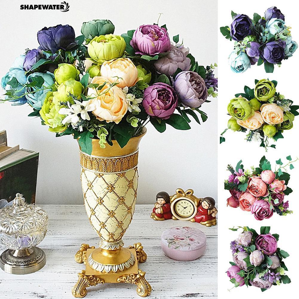 ☀1Pc Artificial Peony Home Garden Stage Flower Arrangement Living Room