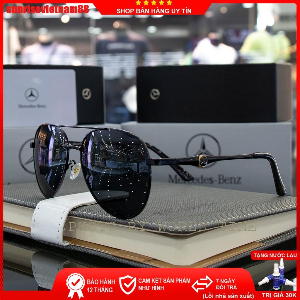 Kính mát nam Benz06 thời trang cao cấp ,full box, tròng Polazied, chống lóa , chống tia UV cực tốt