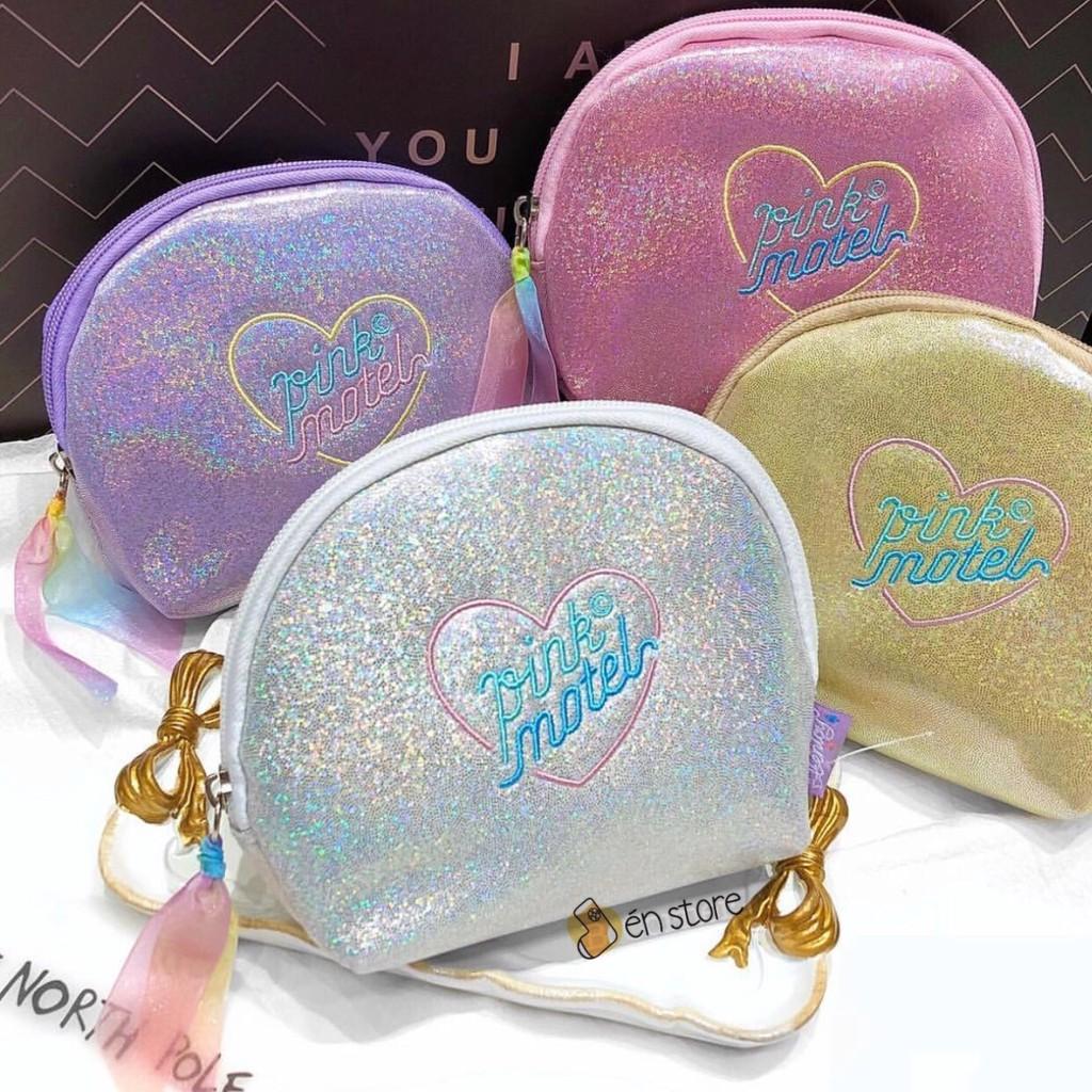 Túi nhũ Pink