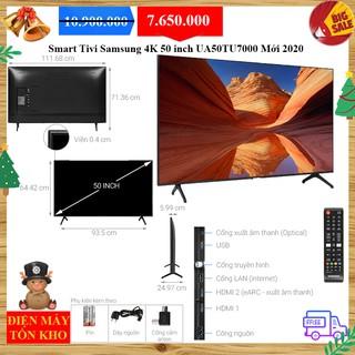 Smart Tivi Samsung 4K 50 inch UA50TU7000 Mới 2020