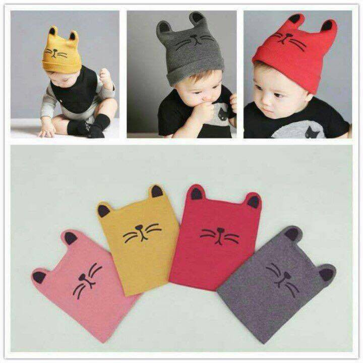 Mũ len mèo cho bé