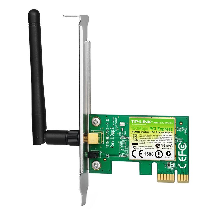 Card mạng TP-Link PCI Express tốc độ 150Mbps TL-WN781ND (Trắng)