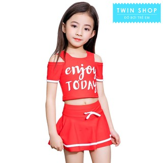 Đồ bơi bé gái, Đồ bơi rời váy( quần) áo, cho bé từ 15-35kg, chất vải cao cấp