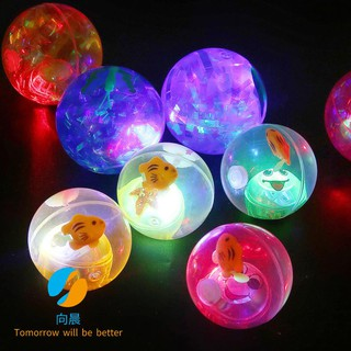 Interactive babe elastic ball bouncy ball crystal ball elast