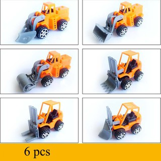 6 Pack Puzzle Children's Toys Pull Back Engineering Car Model Car