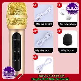 Micro hát Live Stream C11 Chuyên Nghiệp Tặng Kèm Tai Nghe