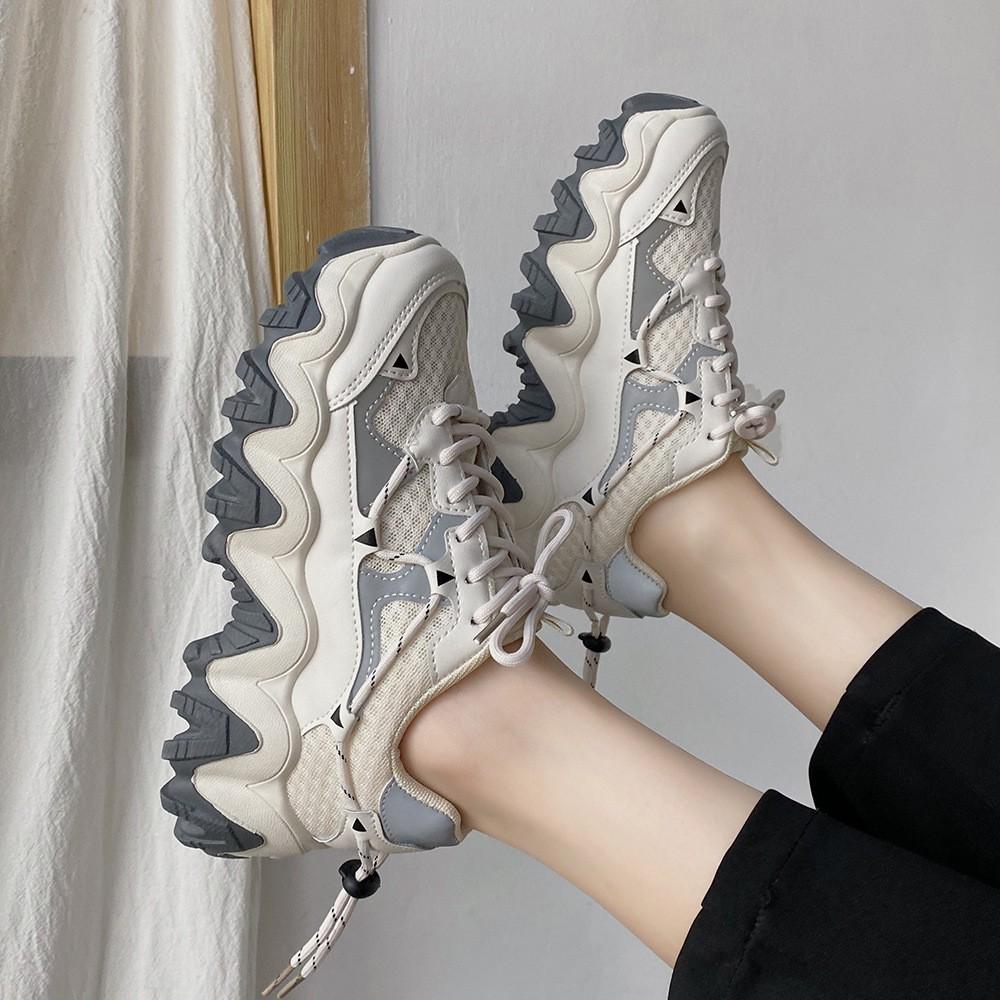 Giày Sneaker Phong Cách Hồng Kông Thiết Kế Thời Trang Năng Động