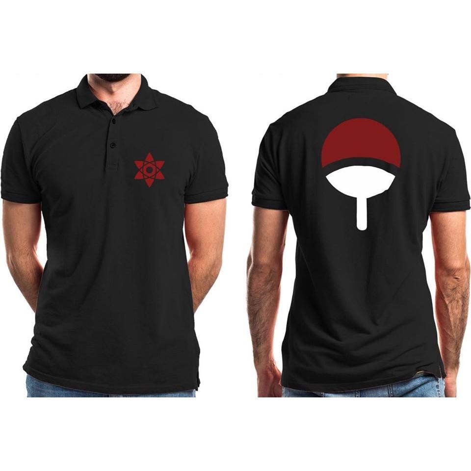 Áo Uchiha Naruto 🔥FREE SHIP🔥 Áo cổ bẻ in tộc Uchiha được các fan Naruto yêu thích
