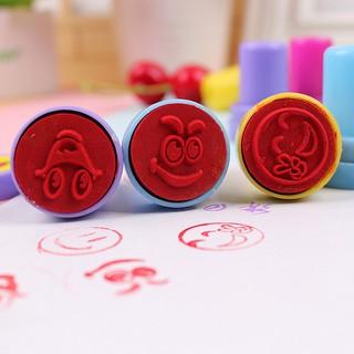 Kids Cute Cartoon Stamp Encourage Children Student Stamper Small Seal Rewar-ff86