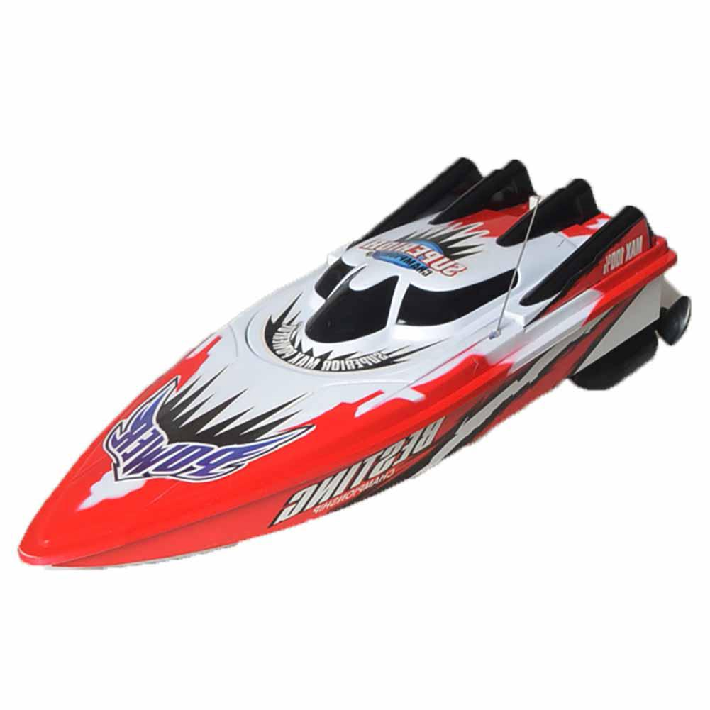 Gift Electric Kids RC Boat Racing Radio Metal Remote Control RTR Motor Toy