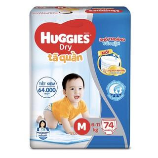 Tã quần huggies M74 (lưng thun đệm mây)