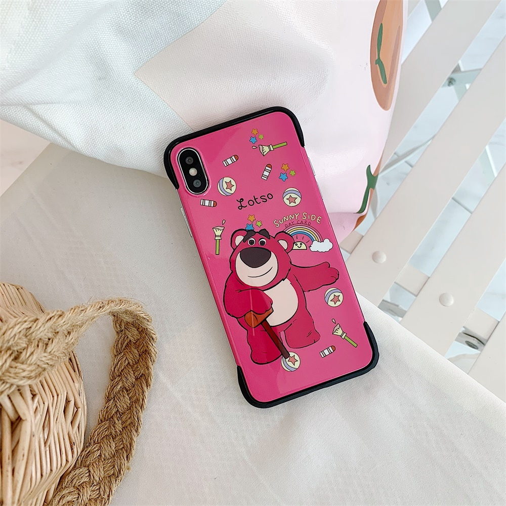 Bear Borderless Phone Shell 6/6s X/XS MAX Covers Cute Case 7/8 Pink For iPhone
