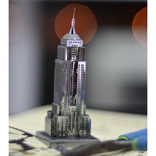 Mô hình kim loại lắp ghép lắp ráp trang trí 3D -tòa nhà new york (Tặng dụng cụ lắp ghép khi mua 2 bộ bất kỳ)