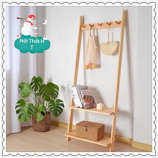Giá/Thang gỗ dựa tường treo quần áo, phụ kiện chụp hình, Kệ treo đồ decor shop(Giá tại xưởng) GIÁ RẺ VÔ ĐỊCH