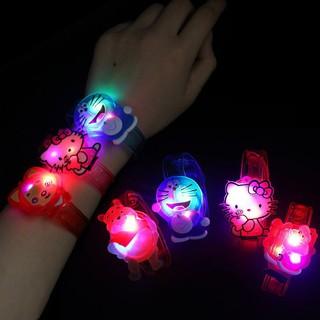 Đồng hồ đeo tay có đèn led phát sáng trong suốt cho trẻ em