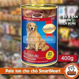PATE LON CHO CHÓ SMARTHEART VỊ BÒ & GAN 400g thumbnail