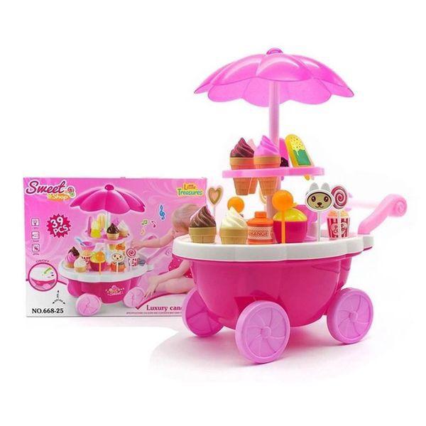 Đồ chơi xe đẩy kem to phát nhạc