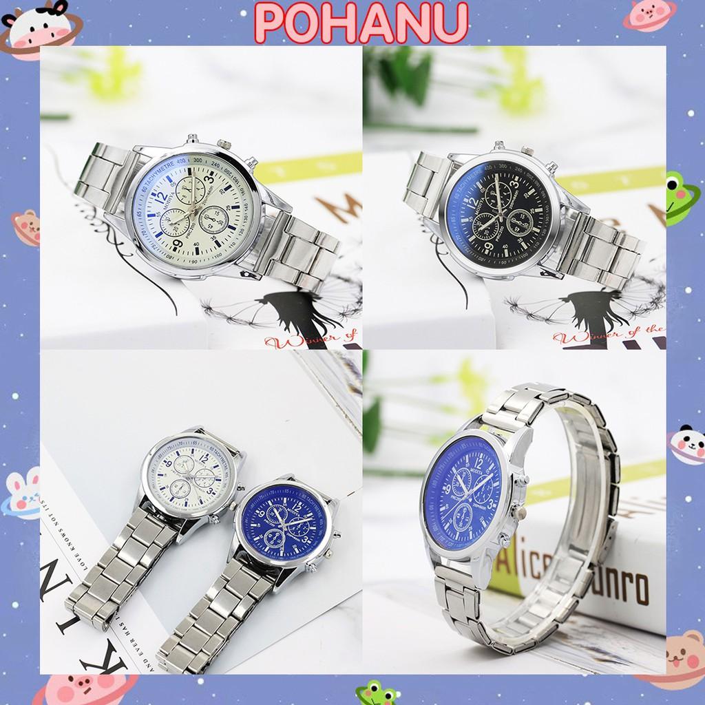 Đồng hồ thời trang nam dây kim loại cao cấp DH104