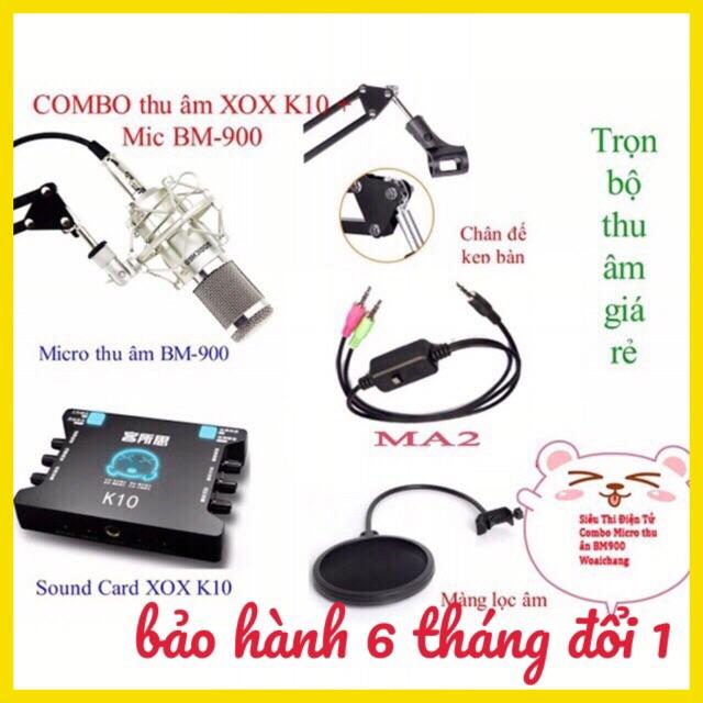 COMBO bộ mic livestream hát karaoke WOAICHANG BM-900, XOX K10, dây live MA2, chân kẹp míc, màng lọc - 2755342 , 397273977 , 322_397273977 , 1040000 , COMBO-bo-mic-livestream-hat-karaoke-WOAICHANG-BM-900-XOX-K10-day-live-MA2-chan-kep-mic-mang-loc-322_397273977 , shopee.vn , COMBO bộ mic livestream hát karaoke WOAICHANG BM-900, XOX K10, dây live MA2, c