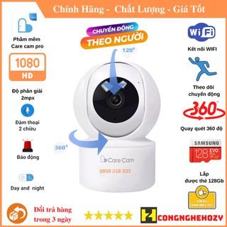 Camera wifi Care Cam YH200 2.0 Mpx 1080p xoay 360 độ, đàm thoại 2 chiều,báo động chống trộm thumbnail