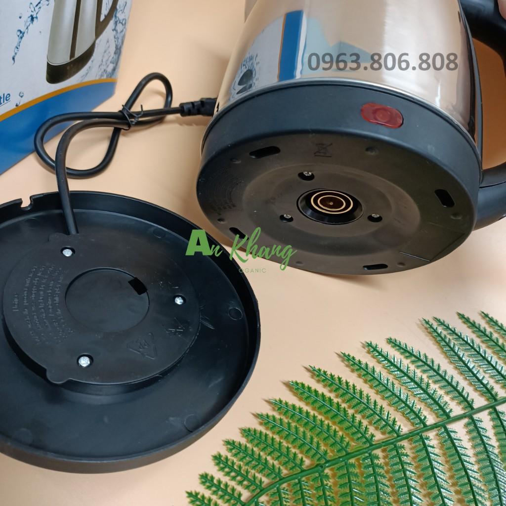 Ấm Siêu Tốc Mini iNox 1.8L-Ấm Đun Siêu Tốc Tự Ngắt- Bình Đun Nước Giá Rẻ- BH 12 Tháng