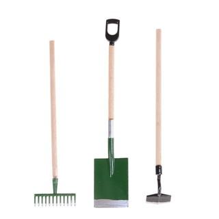 {MUV} 3Pcs 1:12 Dollhouse Mini Outdoor Housework Garden Tools Garden Accessories Decor{LJ}