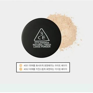 ( Có Bill hãng) Phấn Phủ kiềm dầu 3CE Natural Finish Loose Powder