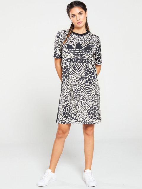 Váy adidas made in cambodia leopard dress