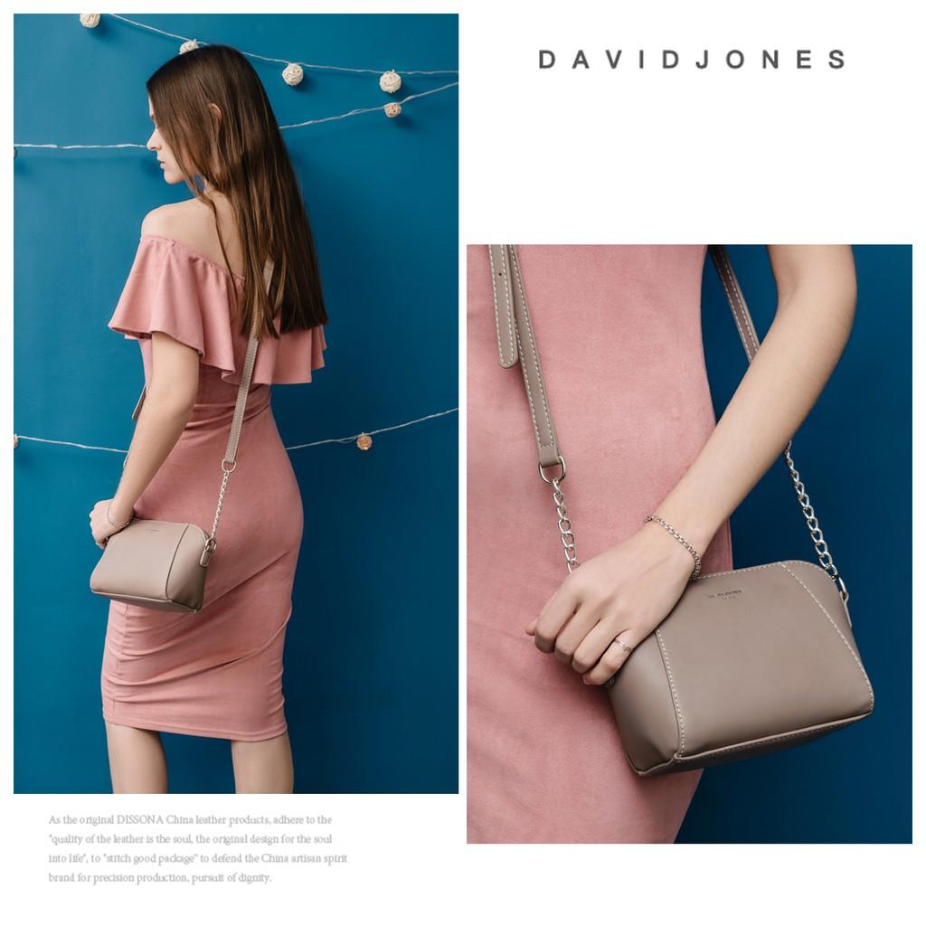Túi xách DAVID JONES đeo chéo bằng da PU thời trang cho nữ