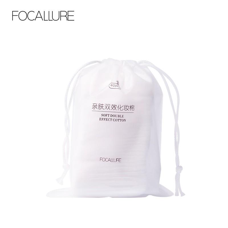 Bông cotton tẩy trang FOCALLURE mềm mịn chất lượng cao  22.5g/1pc
