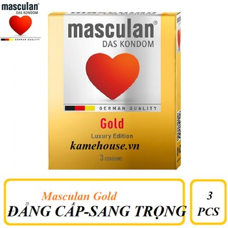Bao Cao Su cao cấp Masculan Das Kondom Gold (3 Cái thumbnail