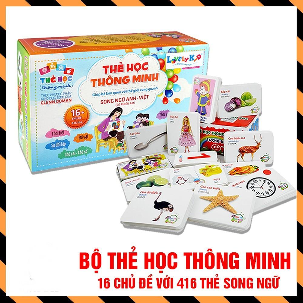 Bộ thẻ học thông minh cho bé 416 thẻ song ngữ Anh Việt theo phương pháp giáo giục sớm Glenn Doman | Flashcards cho bé