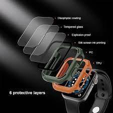 Combo 2in1 Kính + Ốp Nillkin CrashBumper case cho Apple Watch 40mm, 44mm Series 4,5,6,SE chính hãng