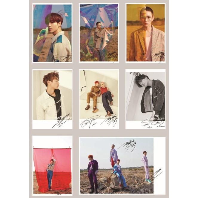"""Lomo card SHINEE Full version """"Good Evening"""" comeback Có chữ ký"""
