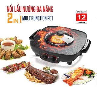 Bếp Lẩu Nướng Điện 2 Trong 1 Đa Năng Misushita Thái Lan